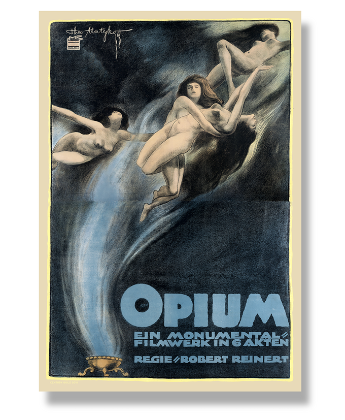Make 100 Rare Silent Film Poster Series OPIUM 1919 By