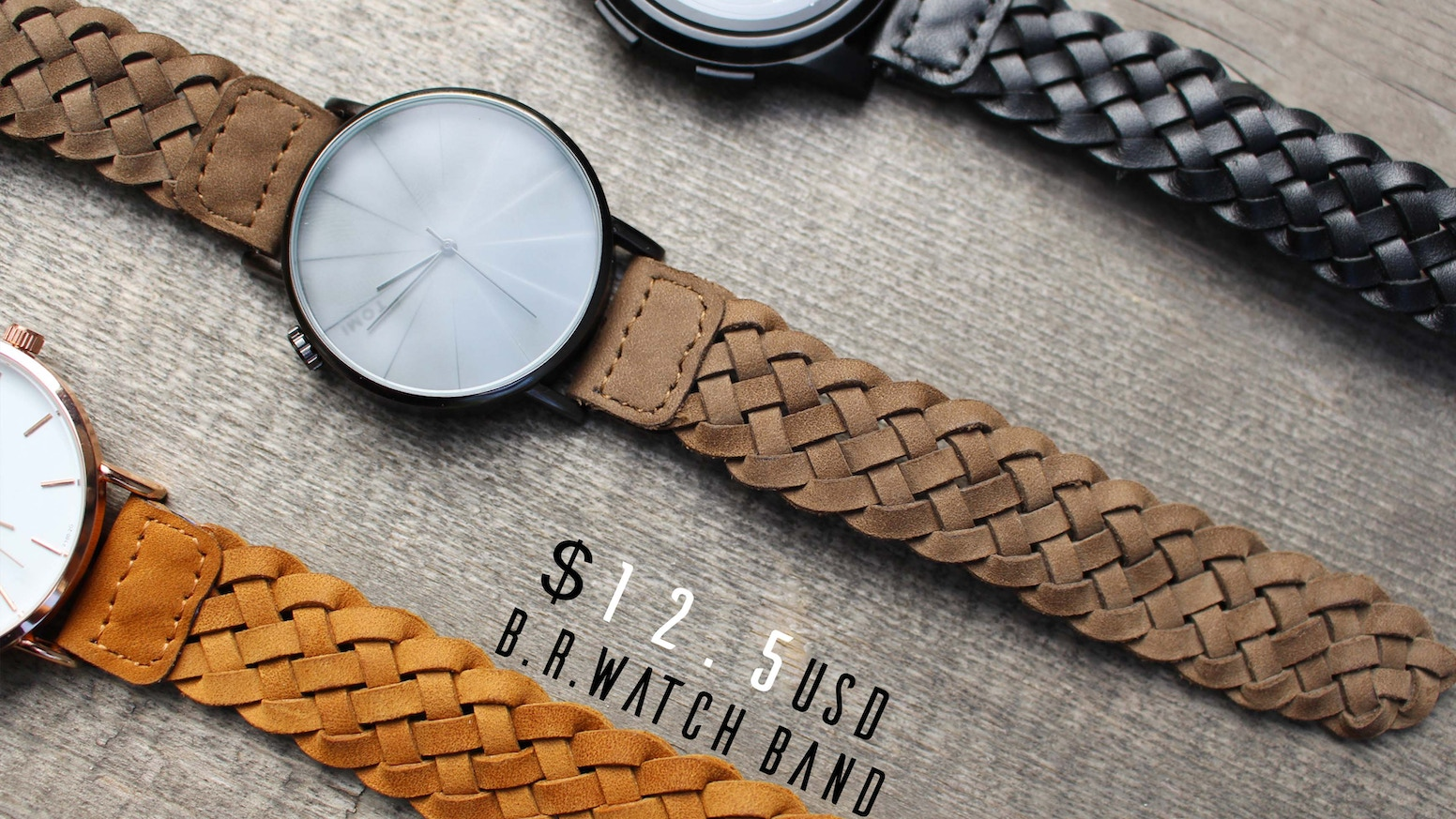 B R  watch band: Braid band improved, a quickstarter project by