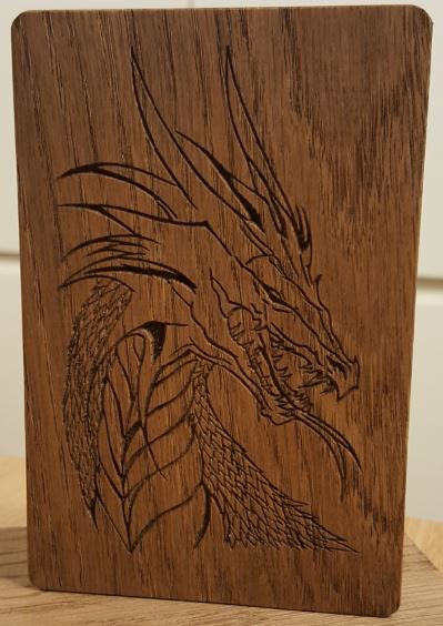 Dragon with scales