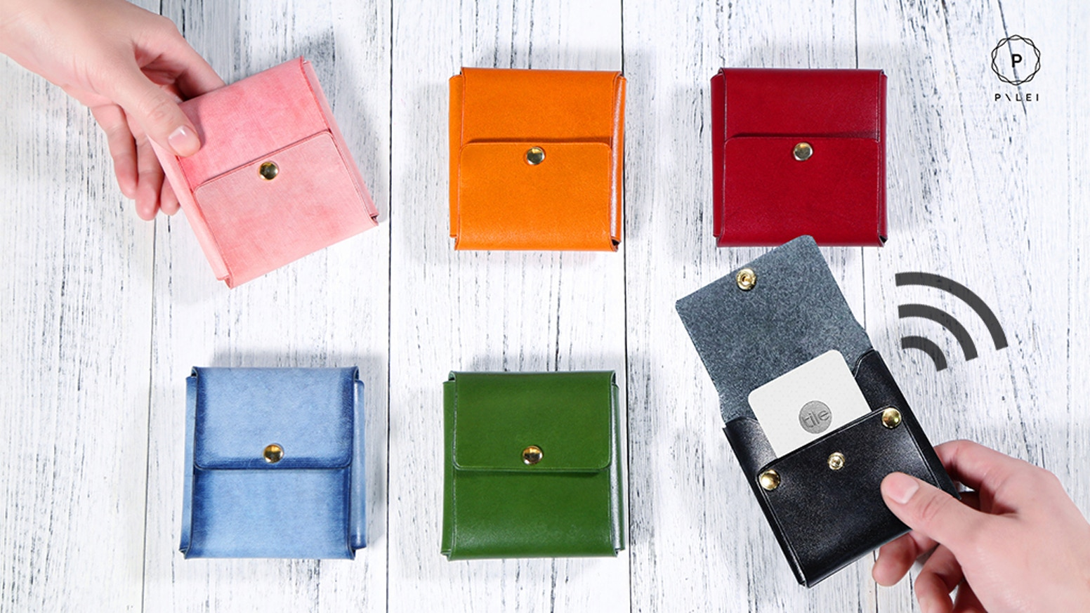 A must-have stylish and functional leather wallet with a smart tracker. Perfect for everyday life. Pick a color and add your own name.