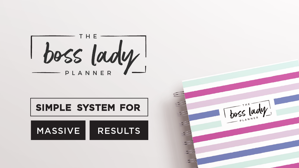 the boss lady planner simple system for massive results by shawna