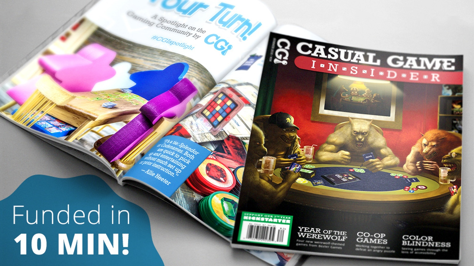 A quarterly board gaming magazine that focuses on the best new casual games from a wide variety of publishers. Time to start reading!