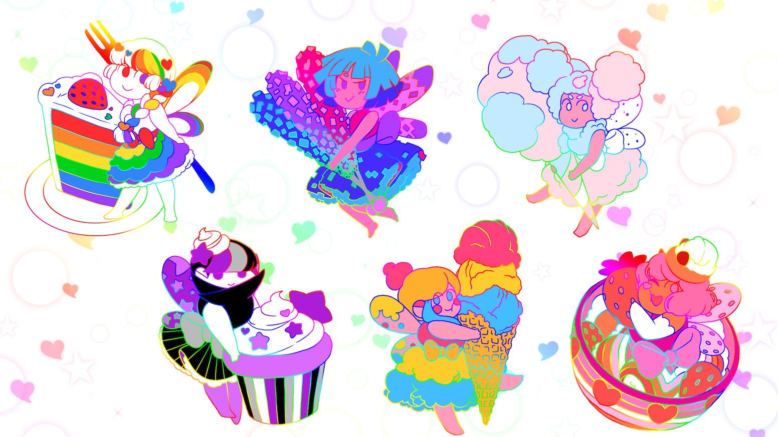 Pride is Sweet! Dessert Fairies Enamel Pins by Shea Noelle