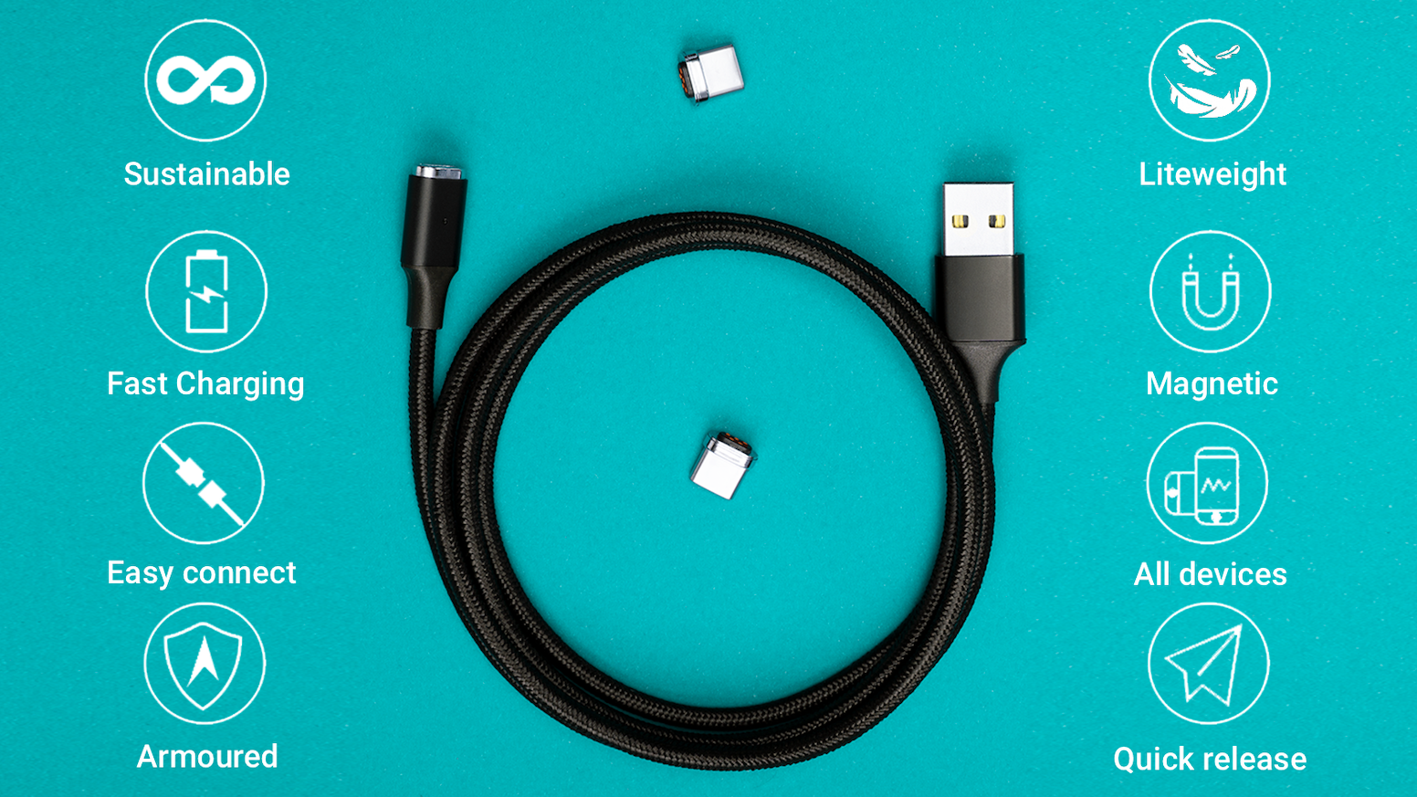 JET Cable  - World's first Armoured phone cable for all devices.