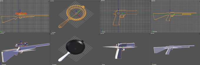 Update! Models from the game design section of this course.