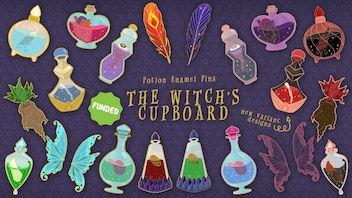 The Witch's Cupboard: Halloween Potions Hard Enamel Pins