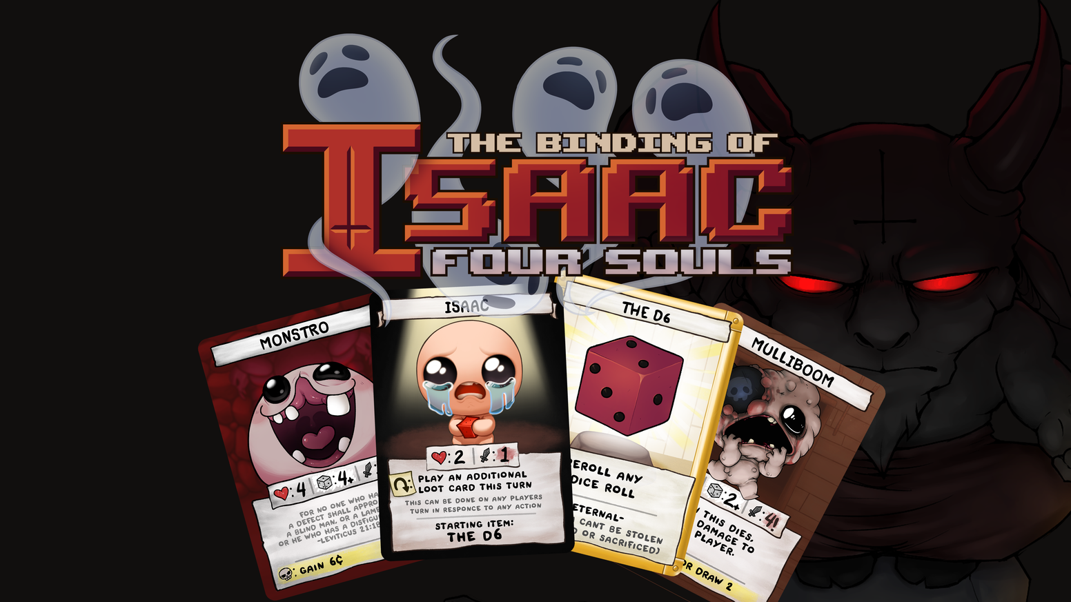 The official Binding of Isaac multiplayer card game, about sacrifice, betrayal and hoarding.
