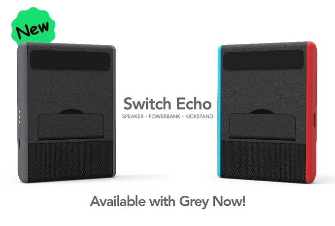 """We are releasing a new """"Black & Grey"""" color option to Switch Echo in order to match your standard grey Nintendo Switch. You can choose the color for your pledge in the survey which we will send you after the campaign ended."""