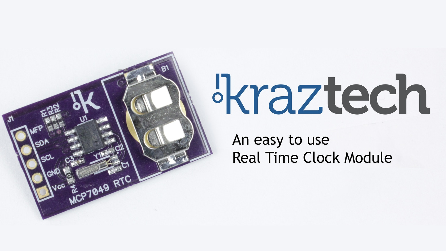 Kraztech Real Time Clock Module and Arduino Library by