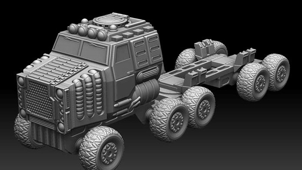 32mm BIG Vehicles - Goliath Land Train project video thumbnail