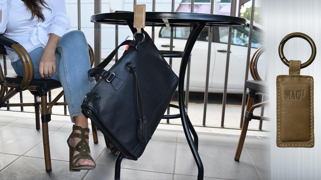 Handbag holder, Tote bag holder, Purse hook, purse holder.