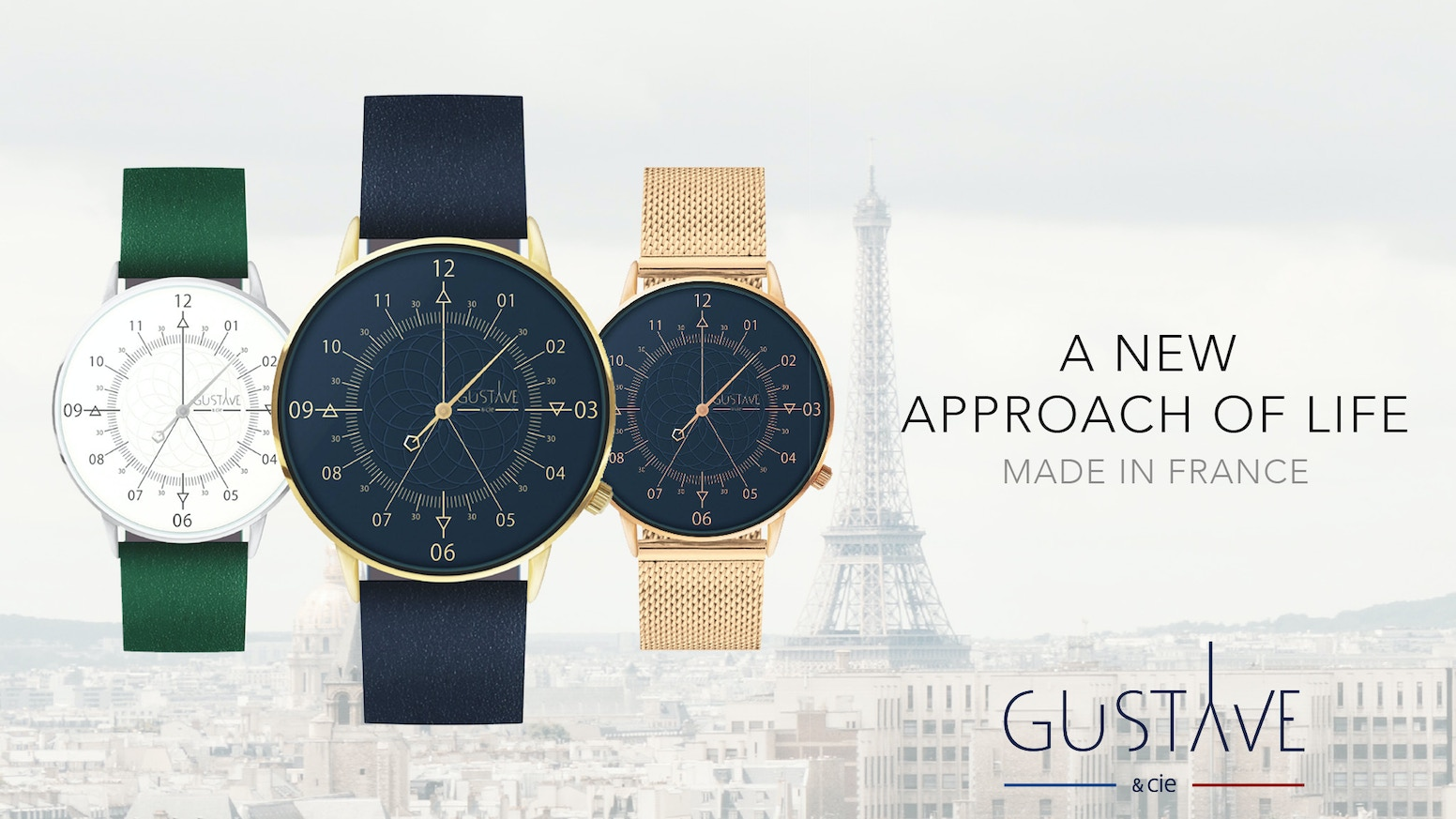 Much more than a watch, a new approach of life, elegant, and Made in France. Single hand concept & interchangeable bands.