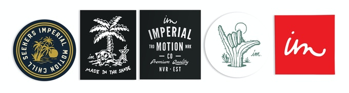 Digital high-five, plus a pack of Imperial Motion stickers to slap anywhere you want.