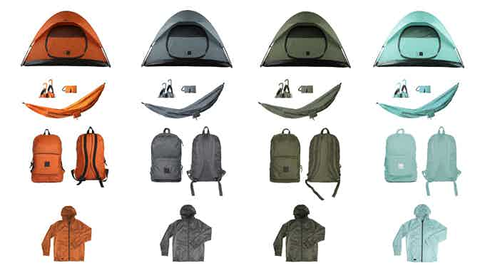 You wanna party for the whole family. Tents Hammocks, Backpacks, and Jackets for everyone.