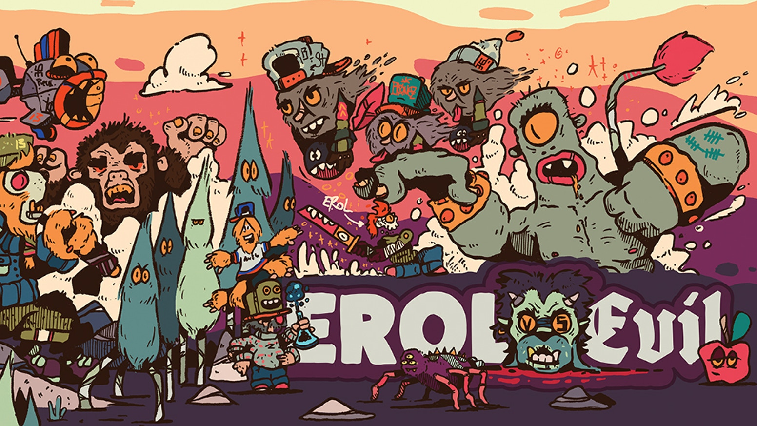 Erol Vs Evil is a tale of a BoneHead and his ambition to level up and become a member of the Piece Brigade!  Welcome to FreeDoom!