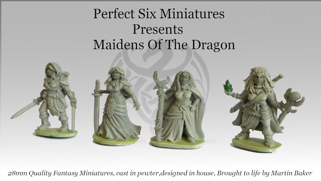 Maidens of the dragon, 28mm quality pewter miniatures. project video thumbnail