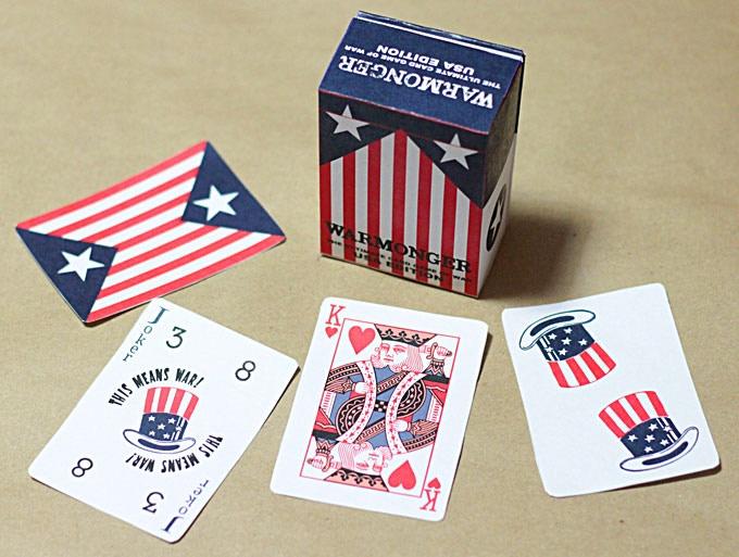 Warmonger USA Limited Edition hand-cut mockup
