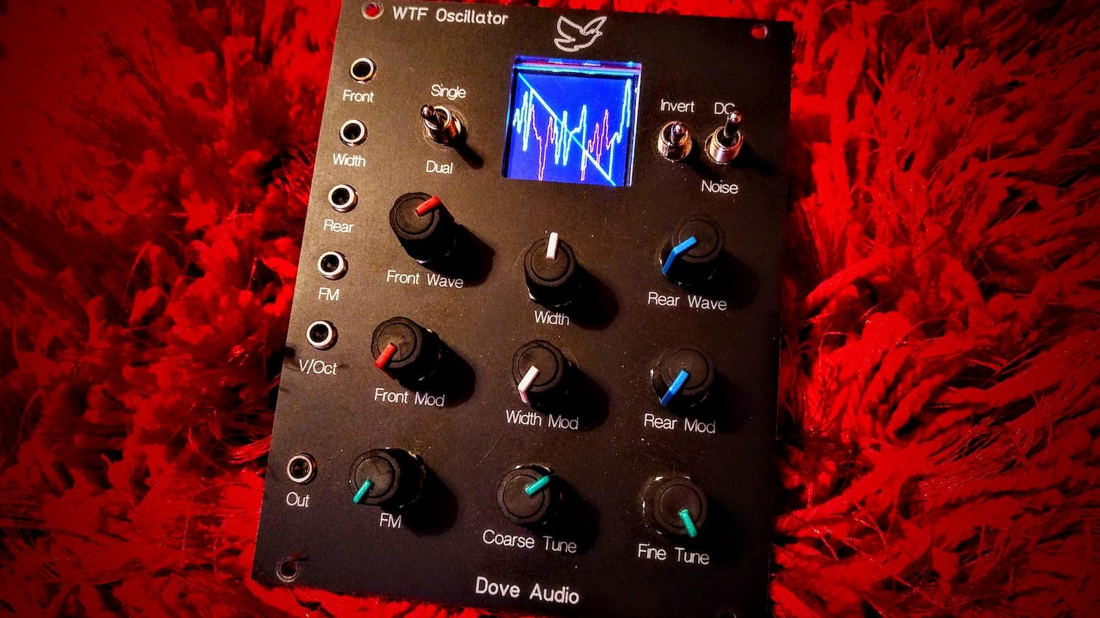 Dove Audio Window Transform Function (WTF) Oscillator - For euro-rack or MU format modular synth.