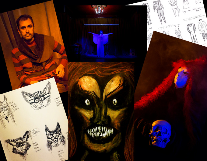 Preproduction sketches, lighting tests & cast rehearsals