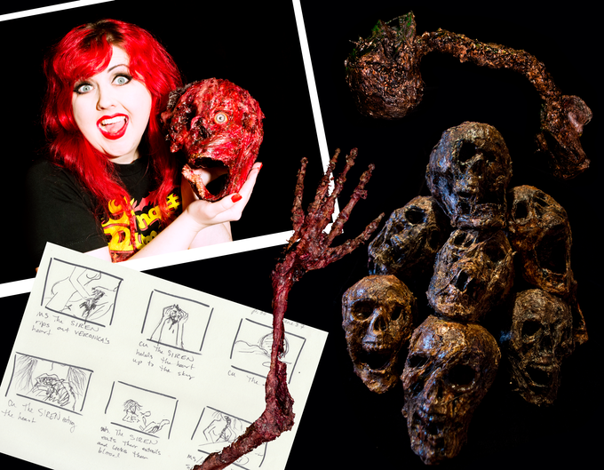 Just a few samples of horror props made for the film