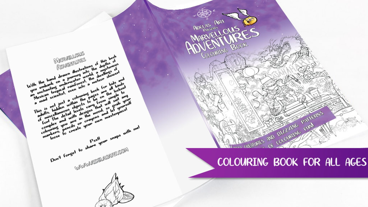 This book contains illustrations with a quirky, magical feel for you to colour and enjoy. Colour in something unusual and different!