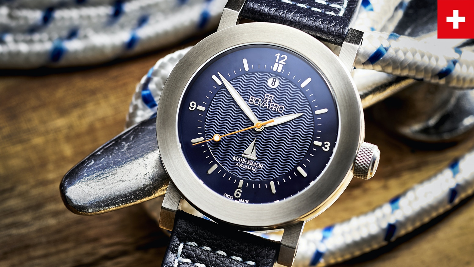 Bovarro Mare Rimor - Explore the Sea. Swiss Made watches in Chronograph, STP and ETA 2824-2 Automatic Top Grade Movemnt Limited Edition