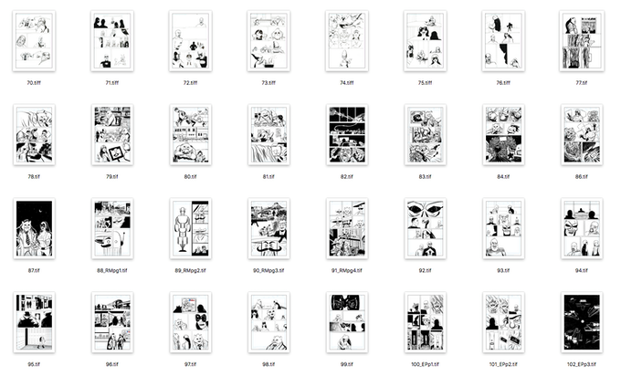 Grid view of the inks from the book