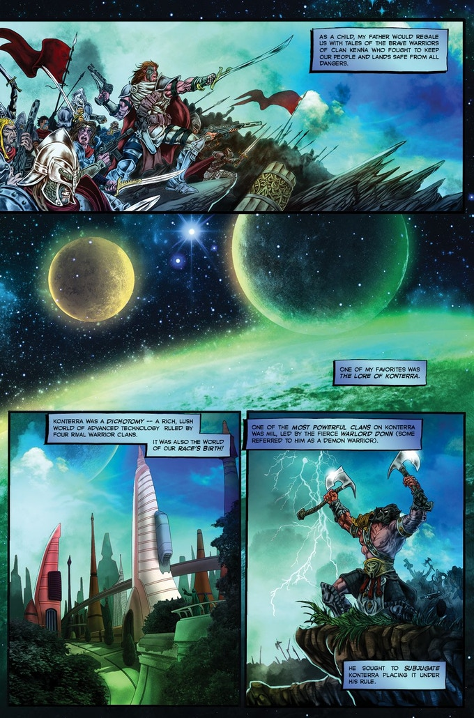 Dark Matter: Rise of the Lexicons #1 page 1 COLORED