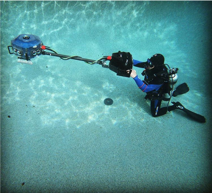 Testing the VRTUL2 in a pool in California