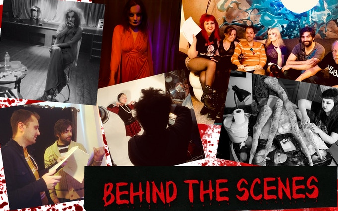 Various candid photos from rehearsals, meetings, and get-togethers with cast & crew