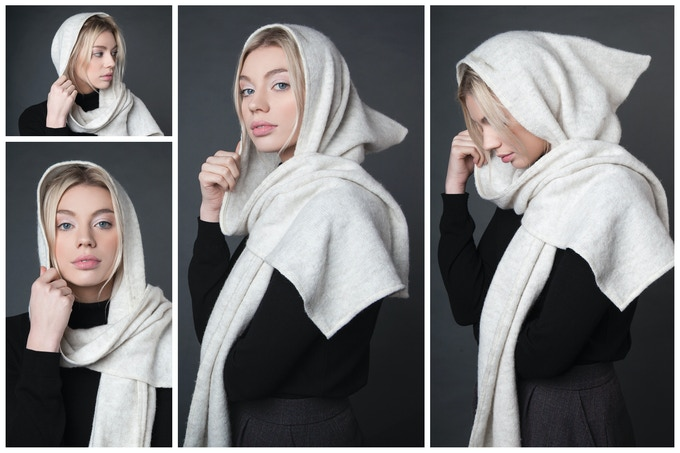 SCANDINAVIAN HOODED SCARF