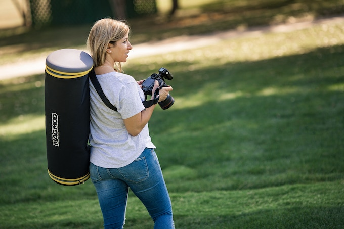 Throw the MagBox Case over your shoulder and free up your arms to hold your camera bag or lightstand
