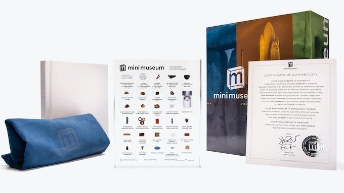 Mini Museum 4, Display Box, Certificate of Authenticity, Custom Micro-Fiber Pouch, and Companion Guide Book
