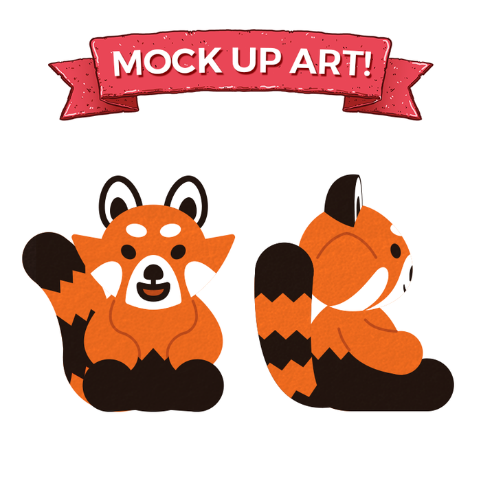 Here's the new plushie mock-up, as seen in the pledge manager...