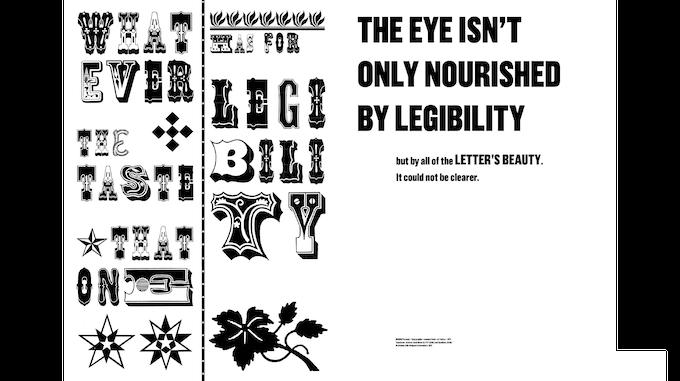 Affiche d'appel à contribution pour la revue no.1 Marie-Mam Sai Bellier (lettres issus du spécimen de la fonderie américaine Hamilton Typefoundry, 1899)