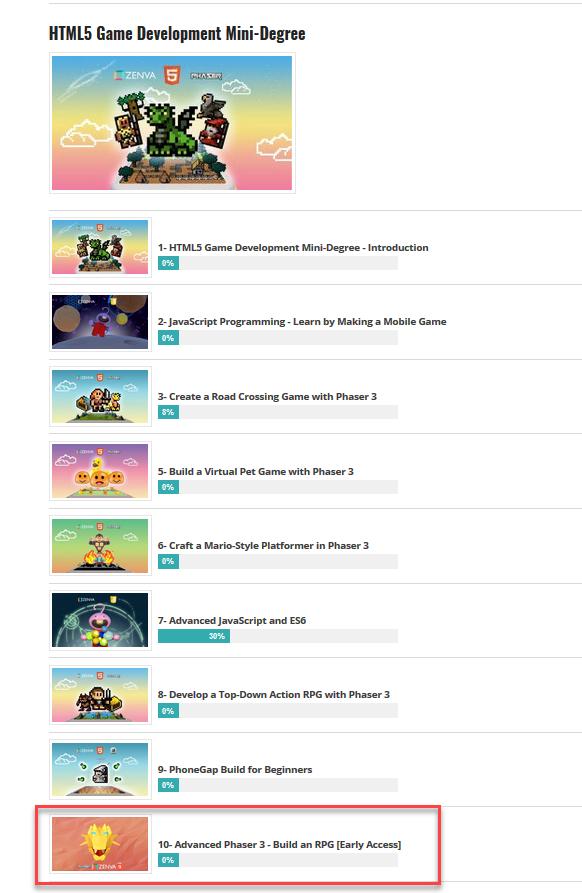 HTML5 Game Development Mini-Degree by Zenva — Kickstarter