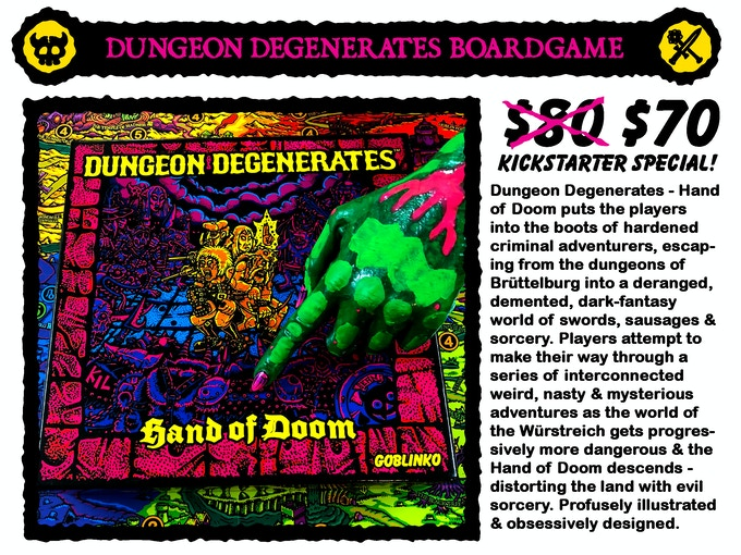 DUNGEON DEGENERATES: HAND OF DOOM SECOND PRINTING by Sean