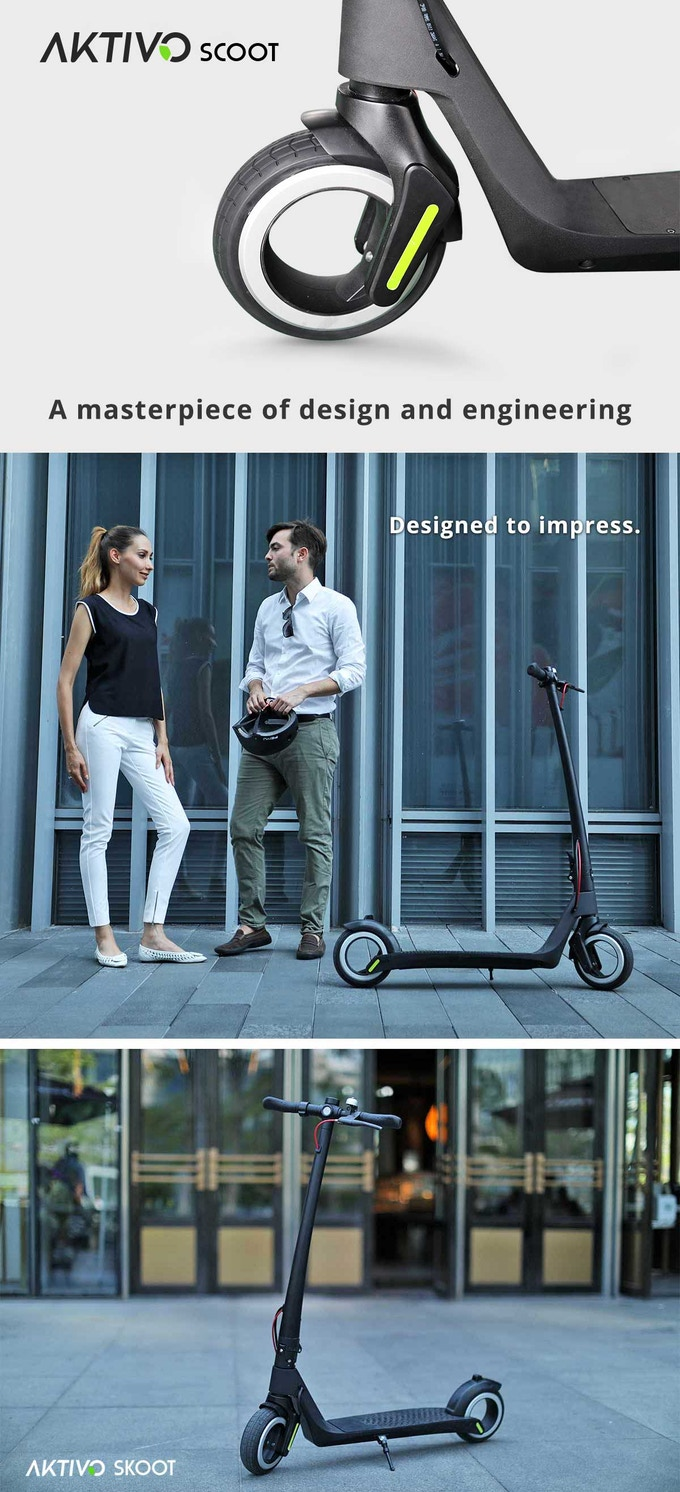 AKTIVO Scoot | World's first hubless electric scooter  by