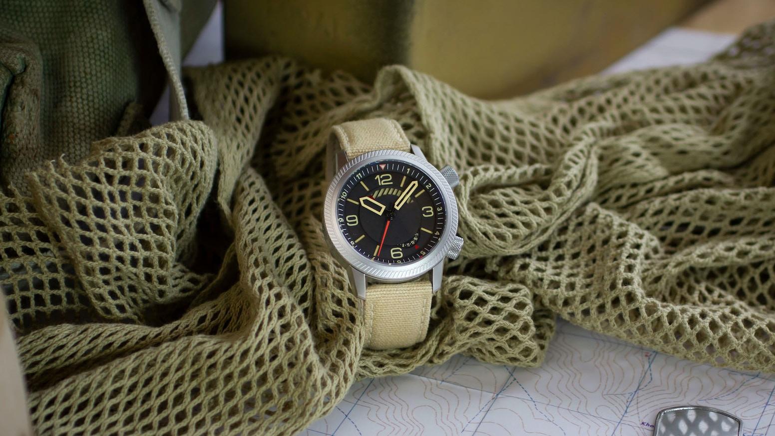 the draken kalahari automatic military watch by draken watches