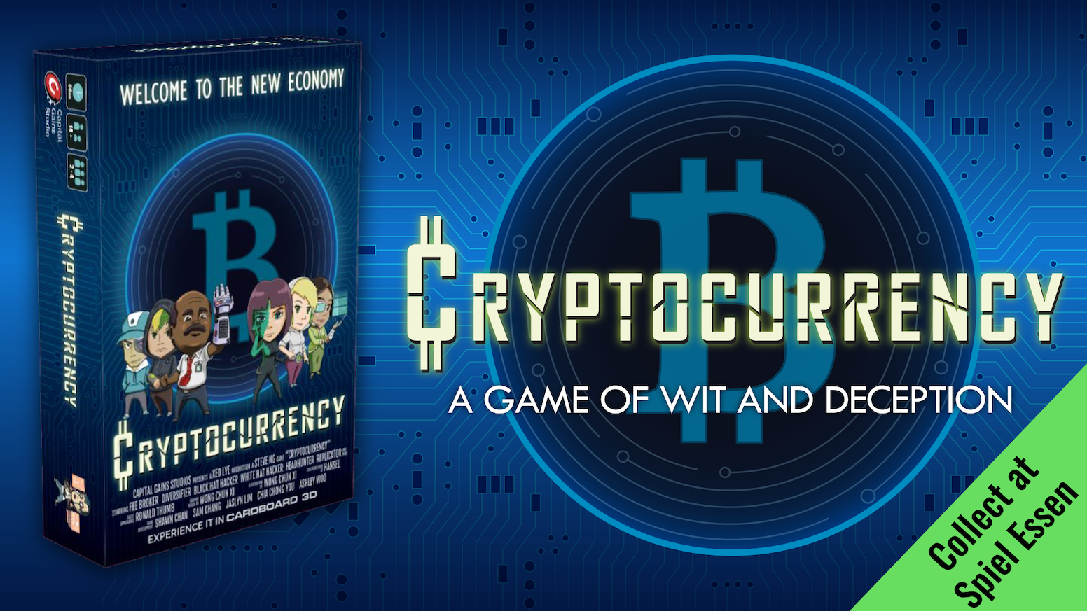 Trick your opponents into buying cryptocurrency scams while you trade, mine and rumormonger to riches in this 2-4 players boardgame.