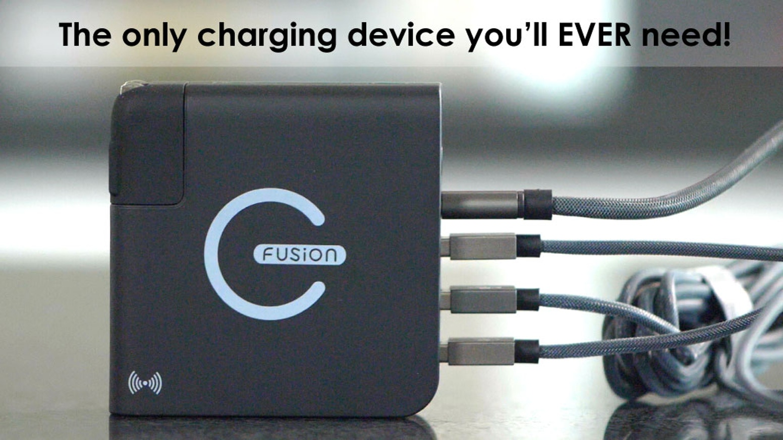 An incredible, quick charge and globally compatible device that combines a wall charger, power bank and wireless charger.