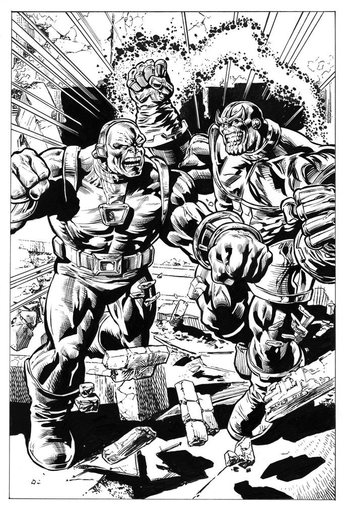 Darryl Banks' Original Thanos Vs. Mongul - Part 5 of the Jim Starlin Legacy Project