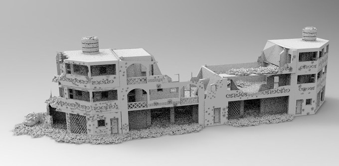 Destroyed buildings not finished yet