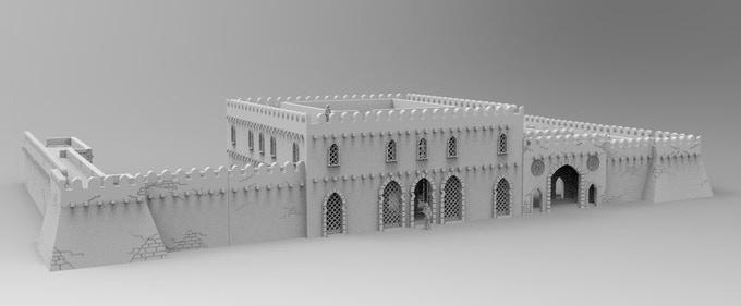 A good addition to palace building are the walls and gate from townwallset