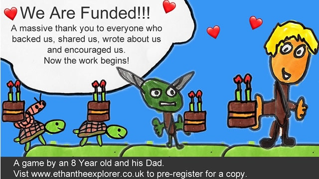 A platform game made by an 8 year old and his Dad. Fight Goblins, Fire the Turtle Gun, Collect Map pieces, eat Hula Hoops. PC Demo http://ethantheexplorer.co.uk