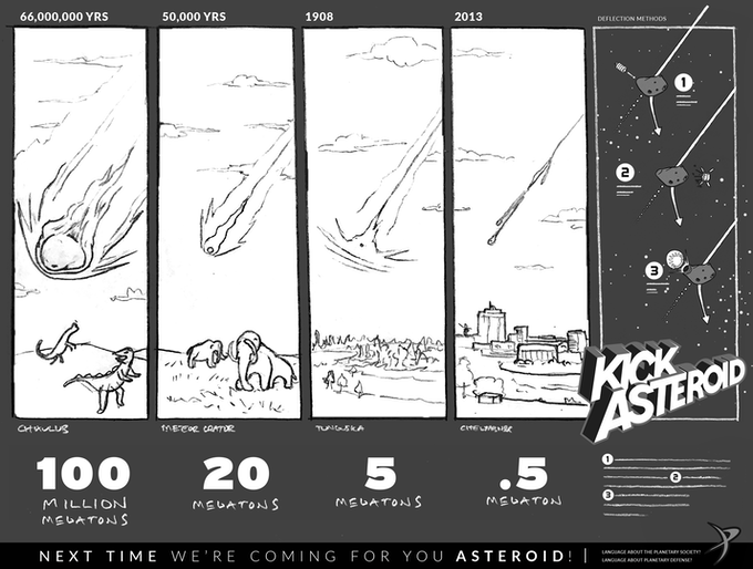 Kick Asteroid preliminary poster design