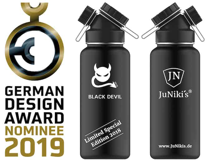 Rendered picture of the new Limited Special Edition 2018 - Black Devil 32 oz - Entwurf der limitierten 1L Spezial-Edition 2018 Black Devil
