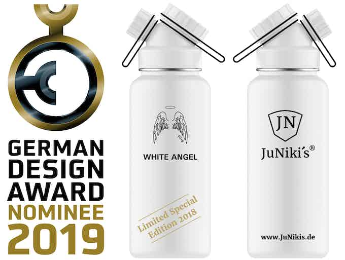 Rendered picture of the new Limited Special Edition 2018 - White Angel 32 oz - Entwurf der limitierten 1L Spezial-Edition 2018 White Angel