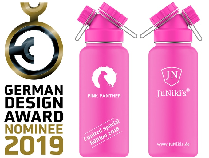 Rendered picture of the new Limited Special Edition 2018 - Pink Panther 32 oz - Entwurf der limitierten 1L Spezial-Edition 2018 Pink Panther