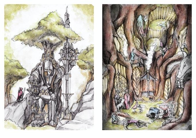 City Of Broken Steel & Home illustrations